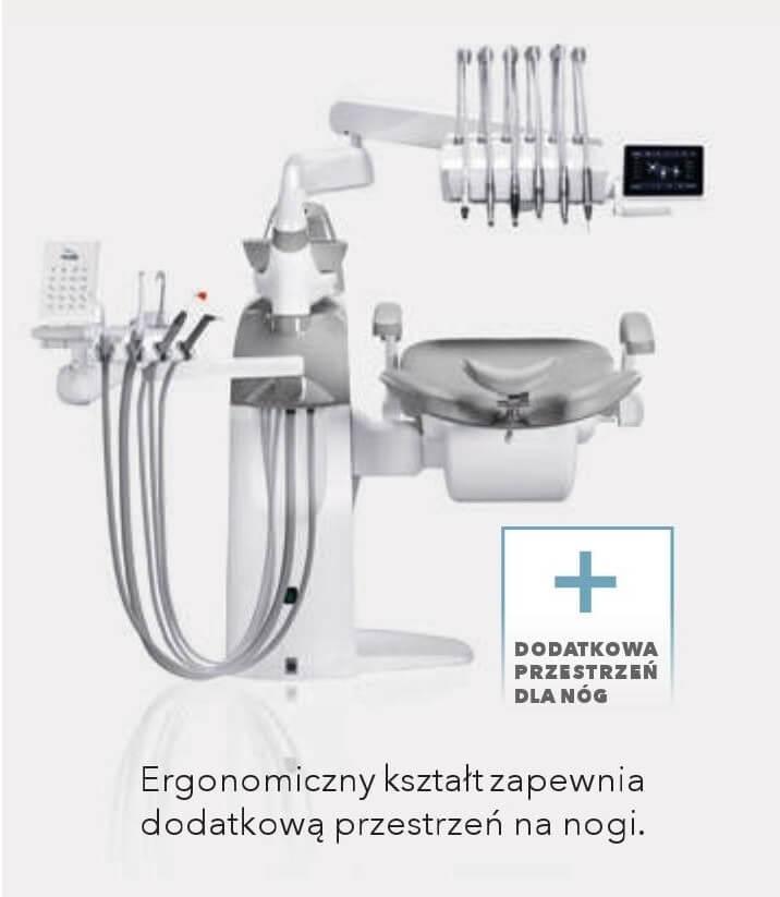 Unit stomatologiczny Diplomat Dodatkowa przestrzeń dla nóg