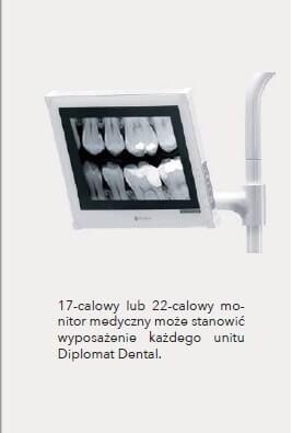 Monitor stomatologiczny Neovo w unitach DIPLOMAT